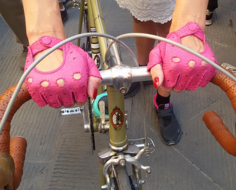 L'Eroica guanti rosa