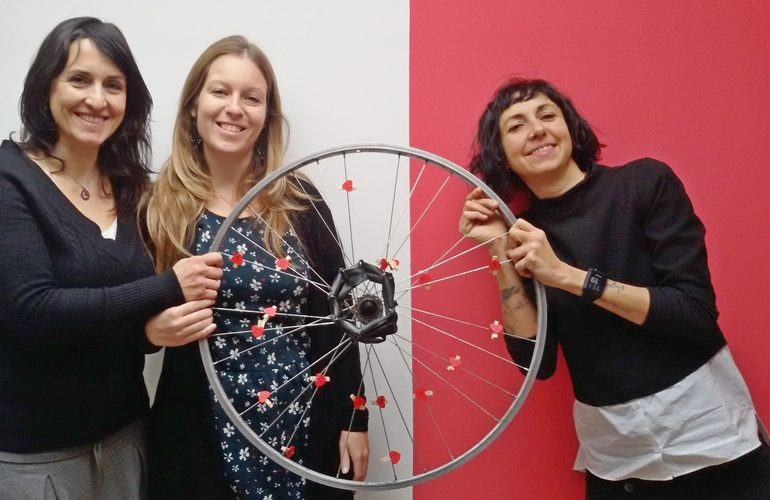 bike café al femminile Hug le tre proprietarie