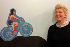 Letizia Urbinati proprietaria della bike trattoria Osteriachebici
