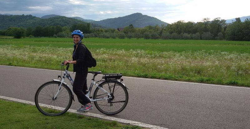 percorso ciclabile verso Caporetto