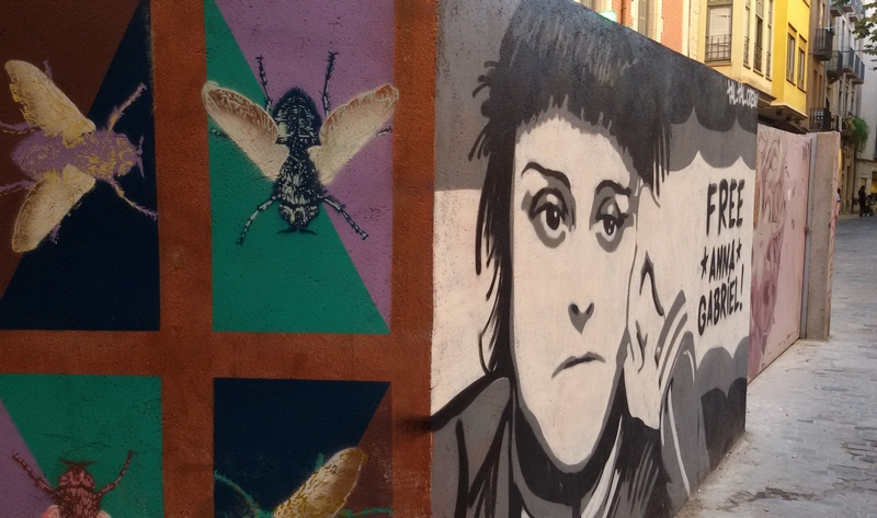 street art Gerona di Mariateresa Montaruli ladradibicilette.it
