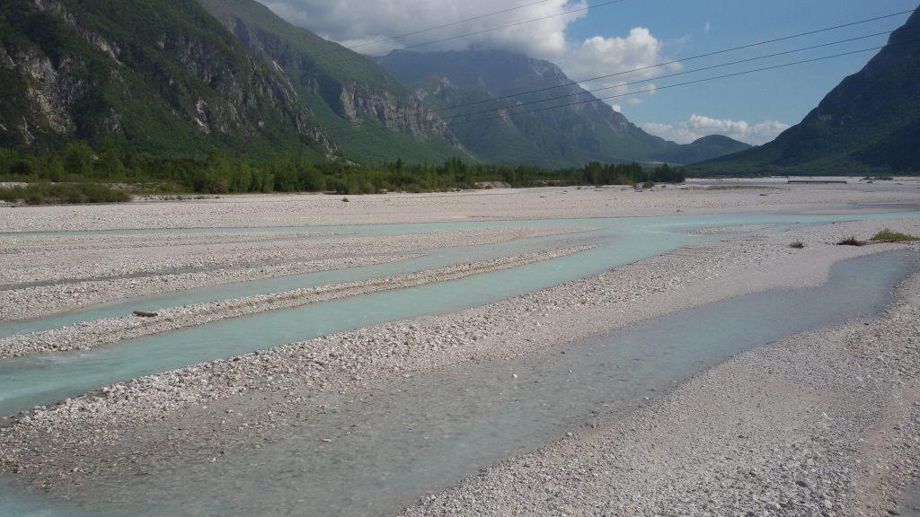 ciclovia alpe adria fiume tagliamento