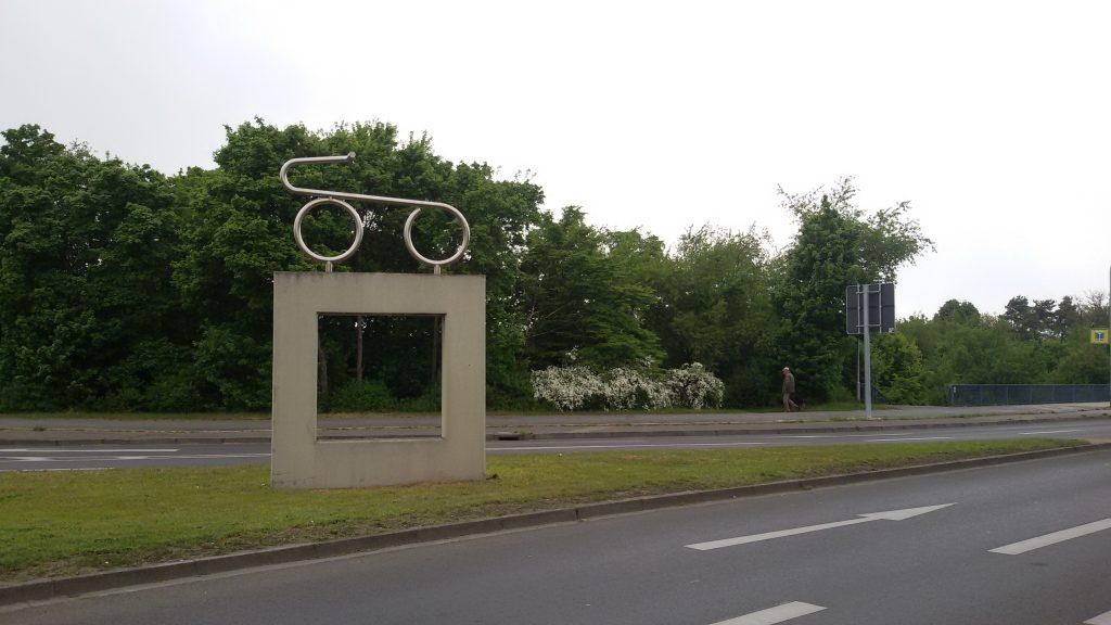 Il monumento alla prima bicicletta della storia, fuori Mannheim, ph Mariateresa Montaruli