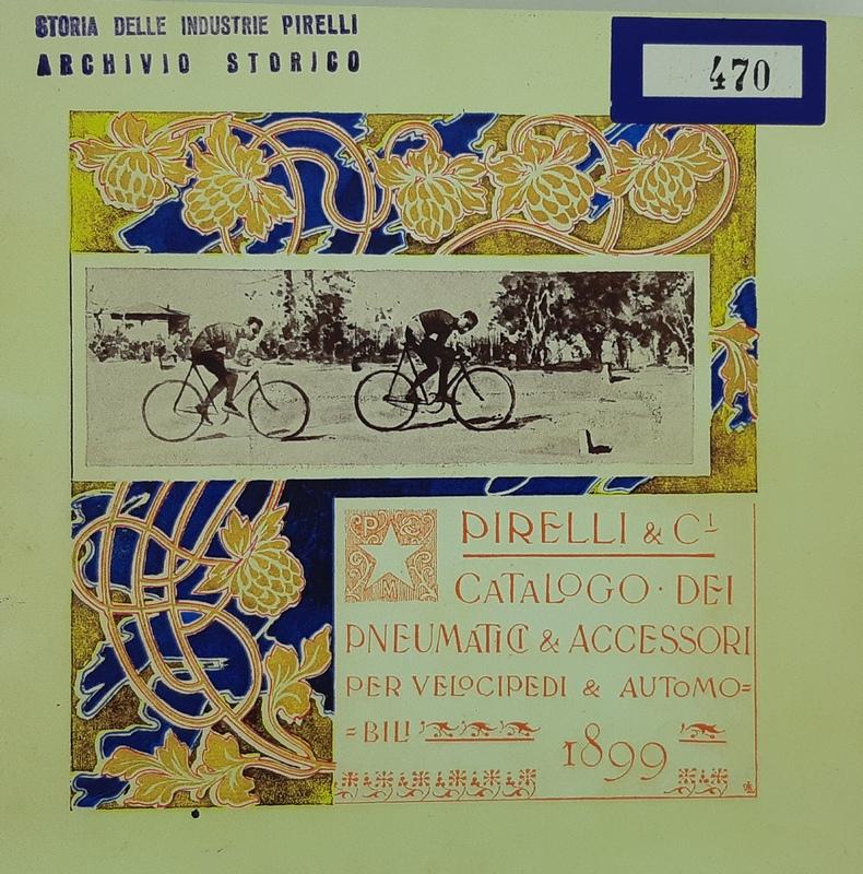 Storia della bicicletta: catalogo per pneumatici Pirelli