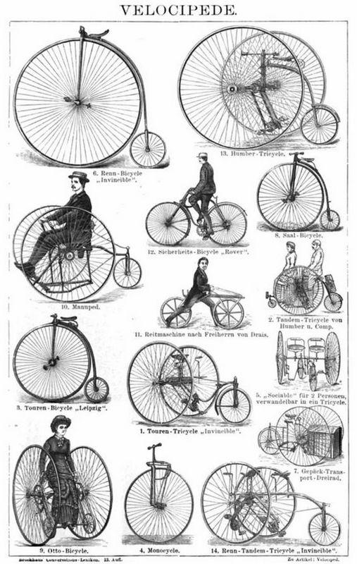 storia della bicicletta: l'evoluzione del velocipede