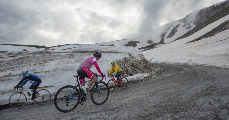 paola gianotti verso il Gran Sasso tra la neve