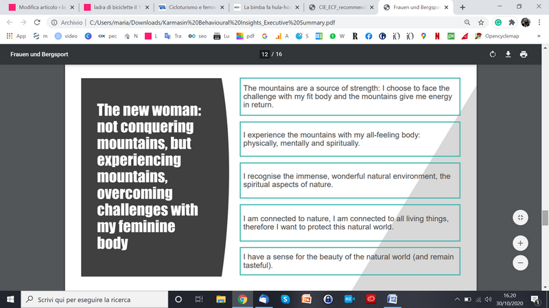 ricerca Oberalp donne e montagna