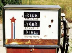 pompa di benzina pro bici Ladra di biciclette Mariateresa Montaruli