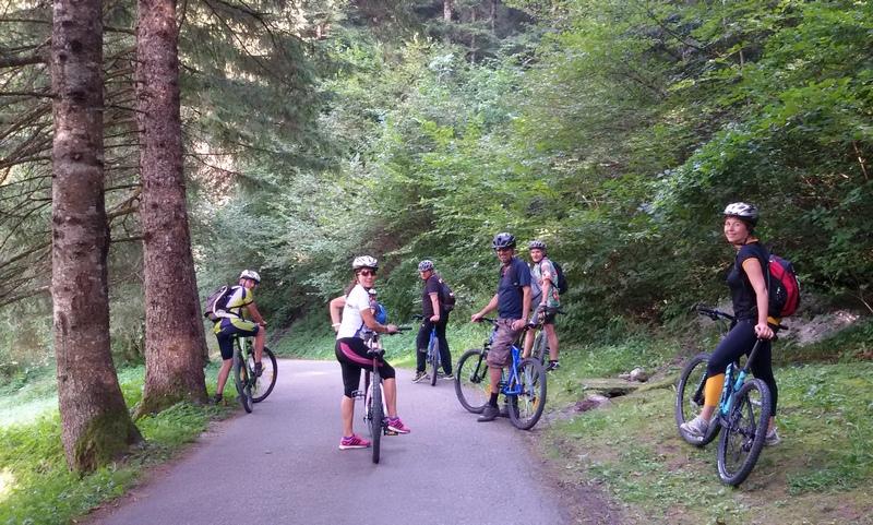 pista ciclabile in Val di Sole Trentino