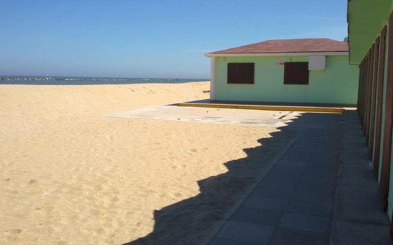 La spiaggia di Pesaro fuori stagione