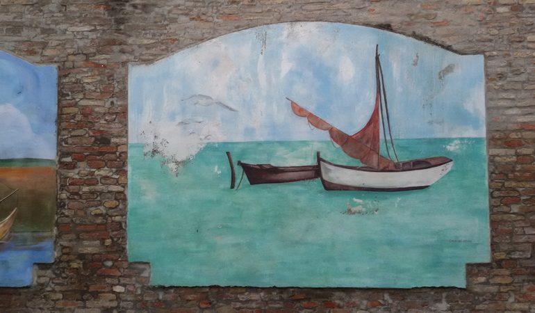 Dipinto sul portocanale di Cesenatico Ladradibiciclette.it