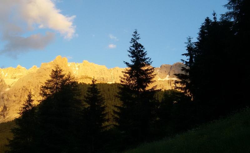 tramonto sulla Dolomiti da Selva di Val Gardena