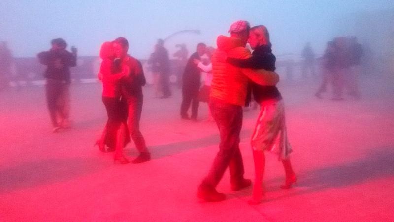 tango sulla terrazza dell'Osservatorio del Pic du Midi