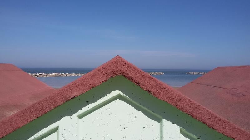 cabine sul litorale di Pesaro
