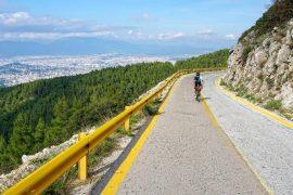 dintorni di Atene in bicicletta