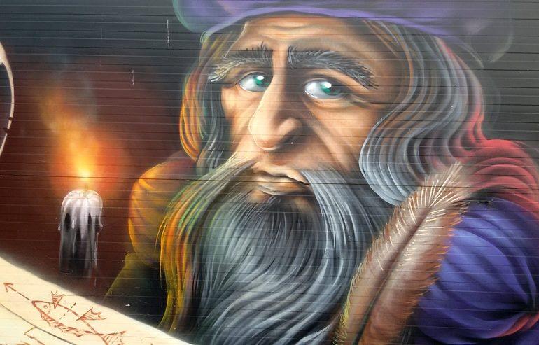 luoghi di Leonardo a Milano murale via de Amicis