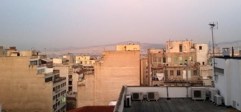 Vista di Atene dal Fresh Hotel