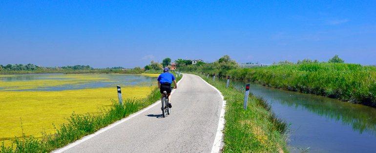 Cavallino Treporti in bici a Lio Piccolo