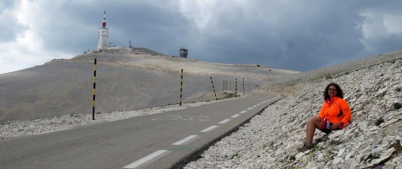Mariateresa Montaruli sul Mont Ventoux, tappa de Tour de France