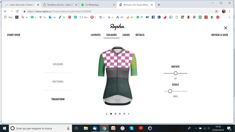 abbigliamento ciclistico femminile maglia personalizzata rapha da donna