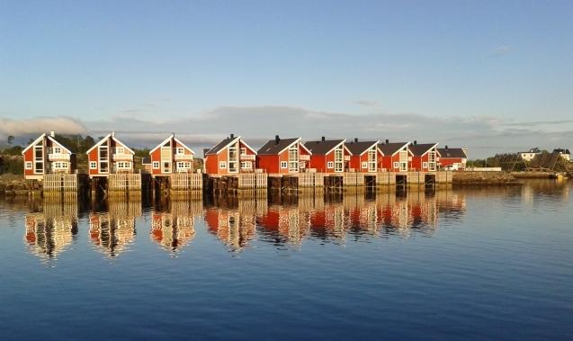 Rorbu, case di pescatori, alle Lofoten