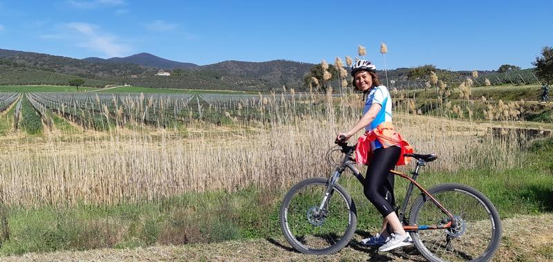 in bici in maremma tenuta l'Andana