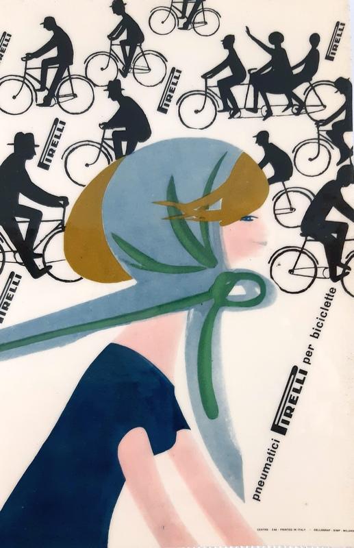 manifesto Pirelli per la bicicletta