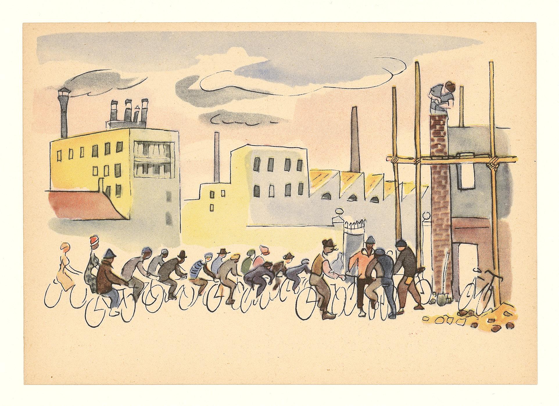 cartolina Pirelli e bicicletta