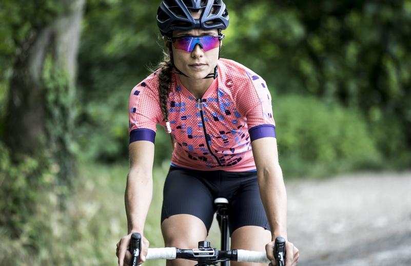 maglia collezione Castelli per donna ciclista