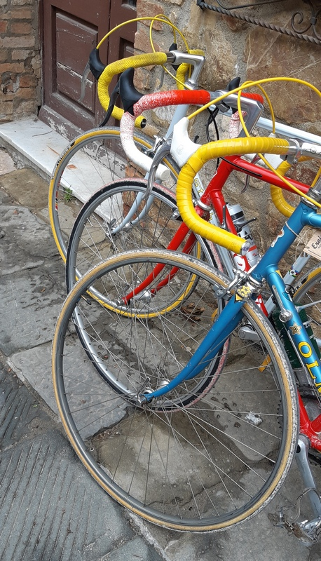 bici vintage eroiche a Caastelnuovo dell'Abate