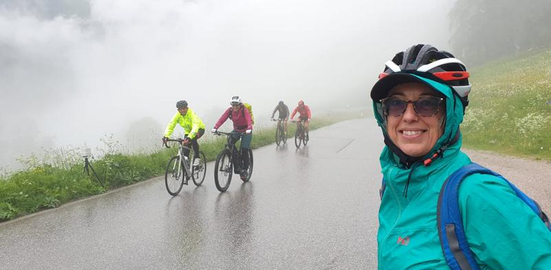 Mariateresa Montaruli in bici nel Sellaronda Bike Day 2019