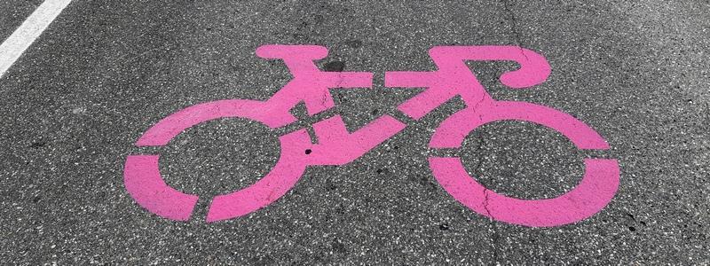 bicicletta rosa su asfalto, Giro d'Italia 2019