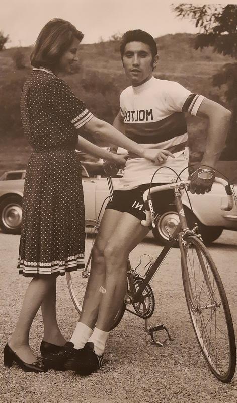 Mercks e la moglie Claudine in una foto d'epoca