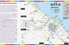 Rimini in bicicletta mappa della bicipolitana