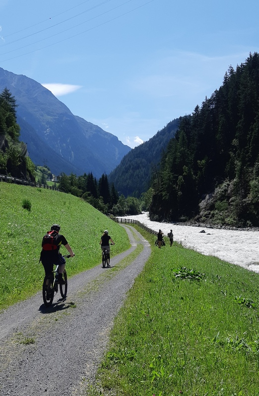 la ciclabile dell'Ötztal