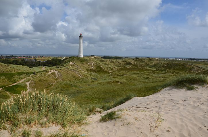 Jutland faro e spiaggia, Danimarca