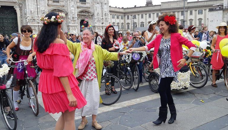 giornata mondiale senz'auto fancy women ride milano