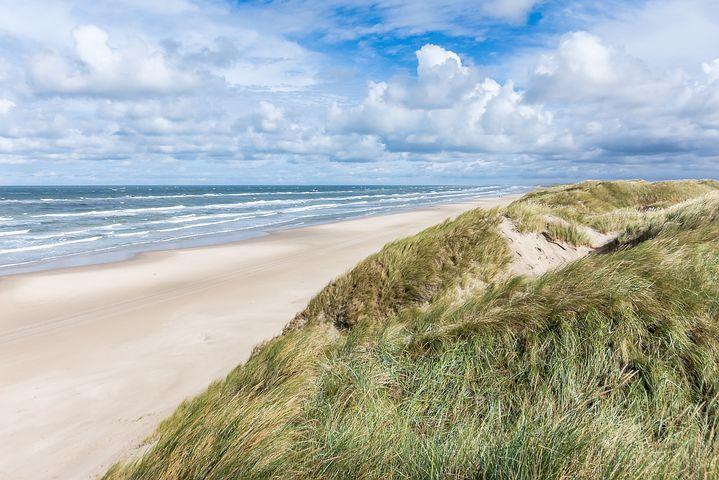 Jutland Danimarca spiaggia con dune