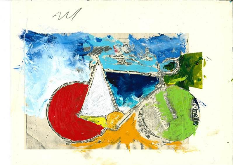Mario Schifano composizione serigrafica 1980