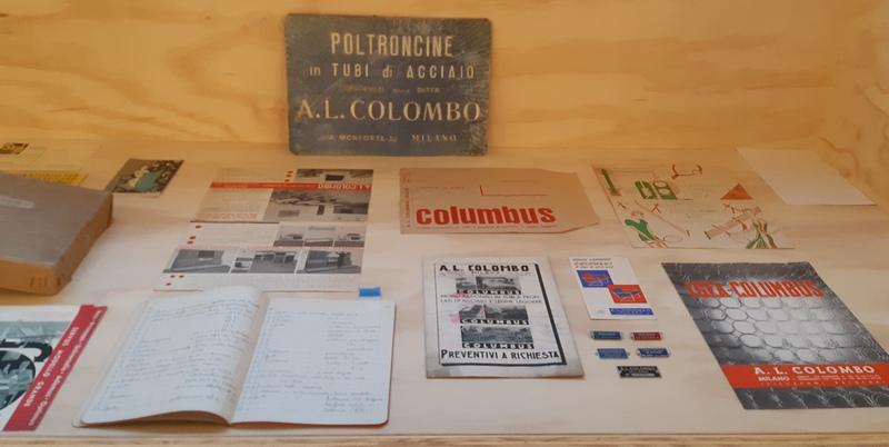 documenti dell'archivio Colombo produttore di telai di acciaio