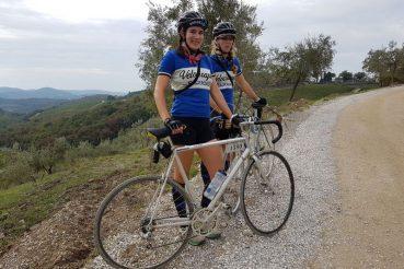 bici vintage da corsa cicliste donne americane Eroica