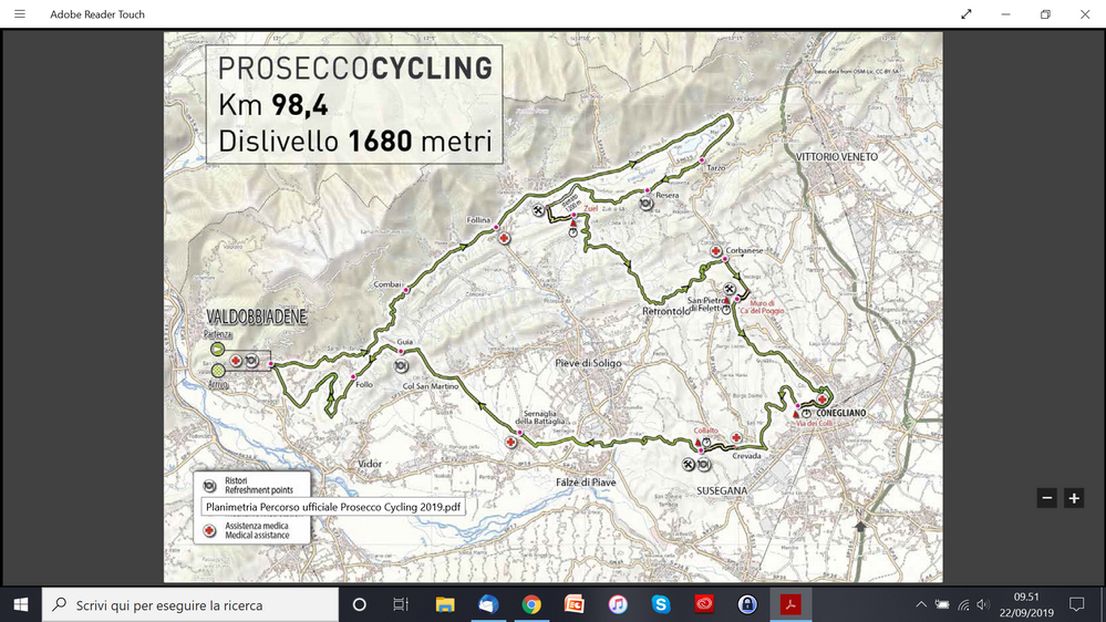 percorso prosecco cycling