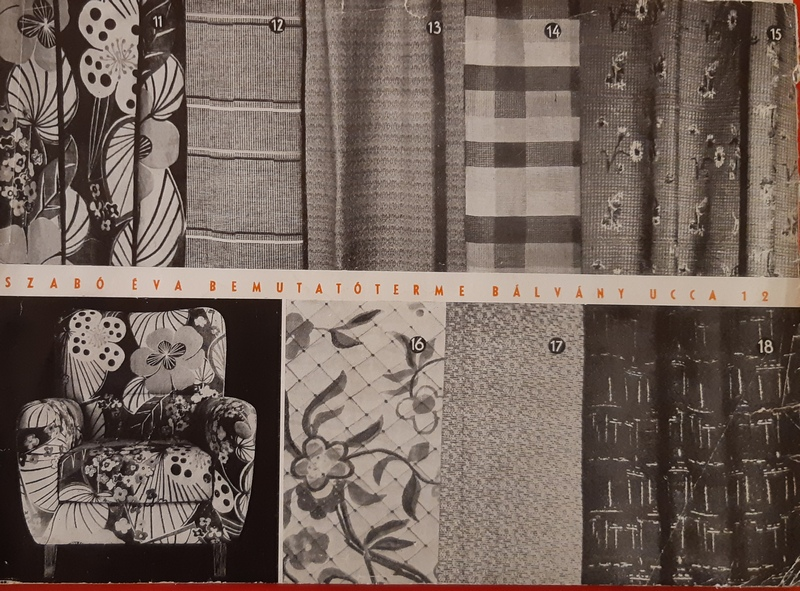 catalogo di tessuti ungheresi di ispirazione bauhaus