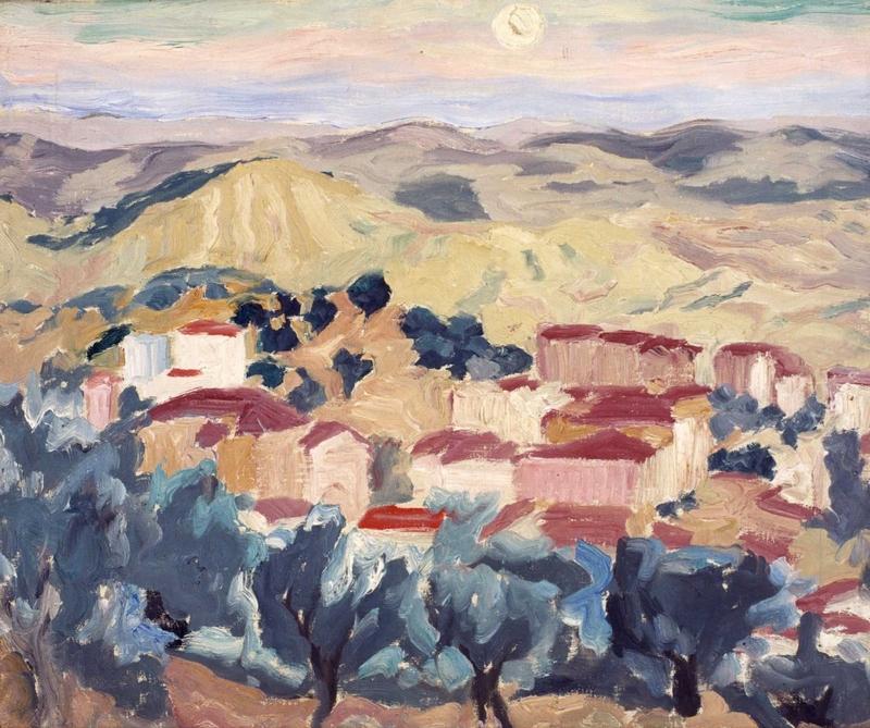 Aliano e la Luna dipinto di Carlo Levi
