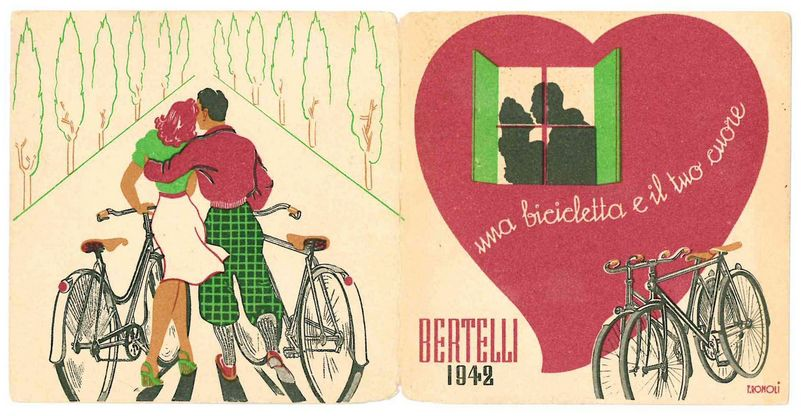 figurina biciclette d'epoca