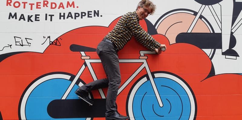 murale con bicicletta Rotterdam