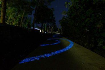 sentiero ciclabile luminoso Campania