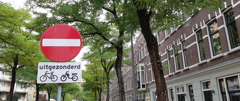 segnale senso unico eccetto bici rotterdam