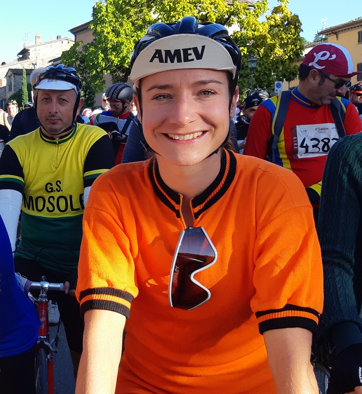 Marianne Vos all'Eroica 2019, alla partenza a Gaiole
