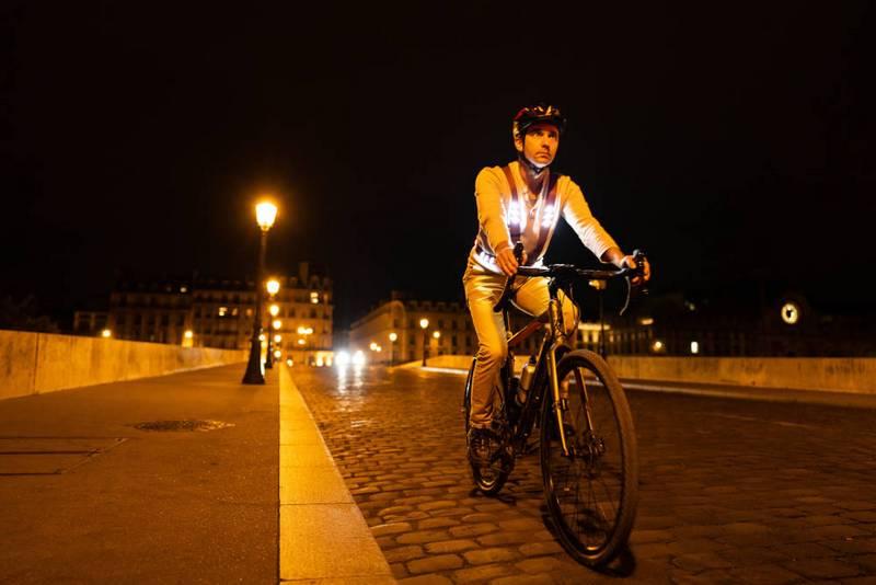 bretelle con led da bicicletta per visibilità